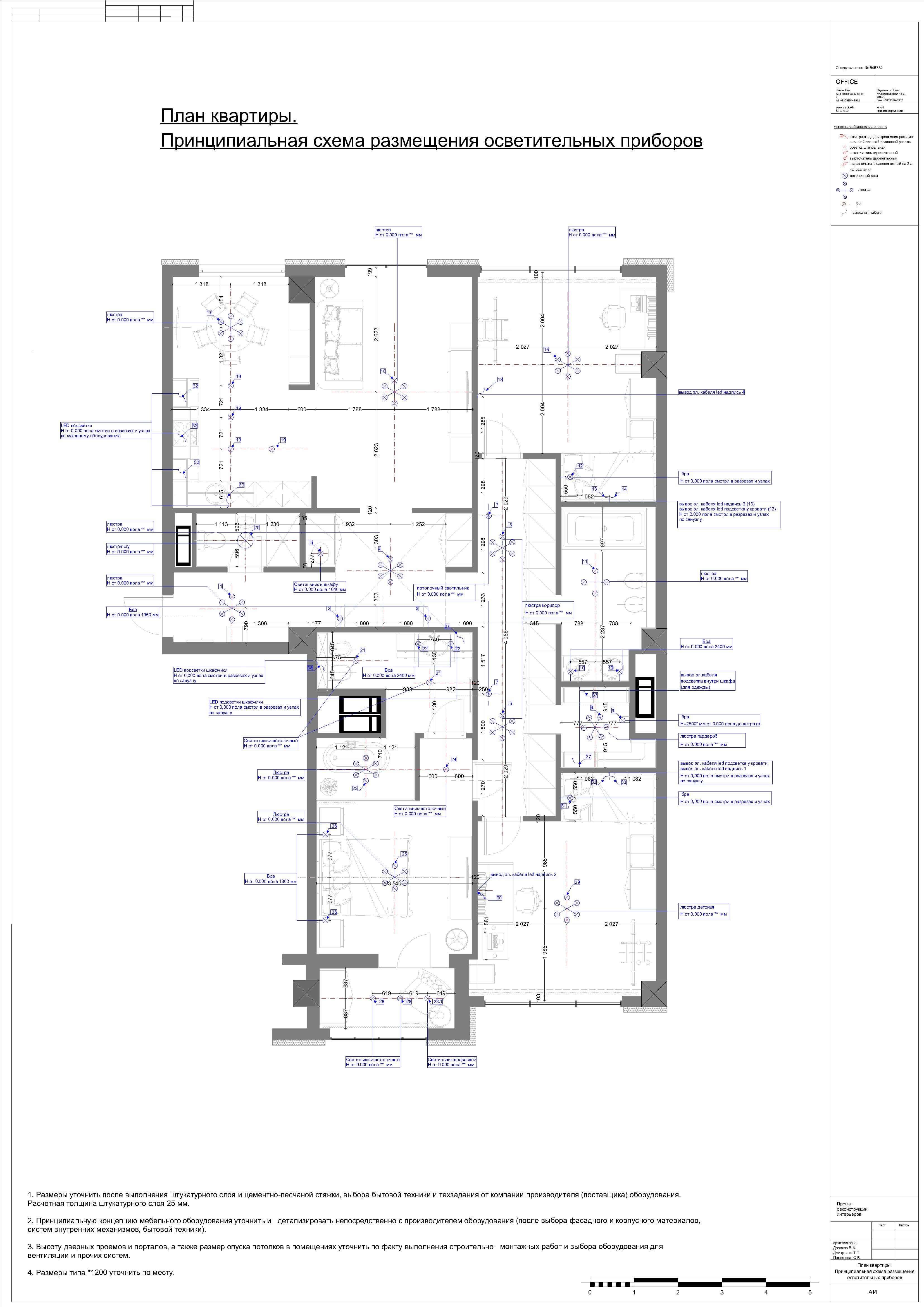 Проект Бульвар Фонтанов квартира 6.-osveschenie